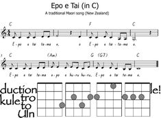 Traditional Maori song in G for performance.