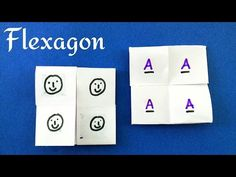 """Action Fun Toy Origami/Craft - Paper """"Simple Flexagon /Puzzle / Trick"""" - YouTube Paper Toys, Paper Crafts, Card Making Techniques, Origami Paper, Cool Toys, Diy Tutorial, Stuff To Do, Usb Flash Drive, Arts And Crafts"""