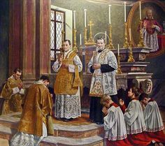 Altar boys with St John Bosco