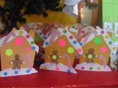 ...Το Νηπιαγωγείο μ' αρέσει πιο πολύ.: Το χτριστουτγεννιάτικο σπιτάκι του μπισκοτένιου το κάναμε κάρτα!