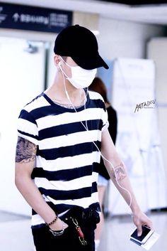 Bang Yongguk of BAP  (feat. his new tattoo)