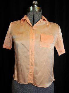 Vintage 40's 50's Silk Blouse Shirt Top / Size by CicelysCloset