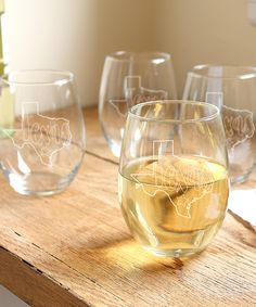 My State Stemless Wine Glass - Set of Four