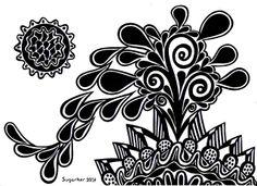 """""""El brócoli de las galaxias"""" Ver más en: www.sirenasinmar.blogspot.com www.facebook.com/SugarherArts www.librecreacion.net"""