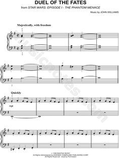 Duel Of The Fates Sheet Music From Star Wars Episode I The