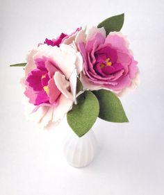 Felt Flowers  Felt Flower Bouquet  Felt Bouquet  by thegreyrose