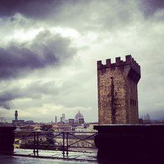 Pioggia a Firenze Italia