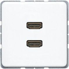 Jung MA CD 1133 WW 2x HDMI-Anschluss alpinweiß | elektroland24.de Schalter Steckdosen Shop