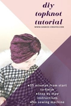 Learn how to make an adorable baby turban with this DIY Topknot Tutorial. A simple, no-sew tutorial. Baby Headband Tutorial, Turban Tutorial, Topknot Tutorial, Make Baby Headbands, Baby Turban Headband, Crochet Headbands, Turban Hat, Top Knot, Baby Boys