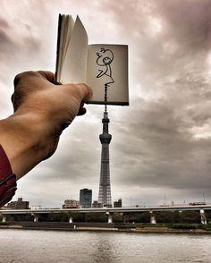 Dancing with the clouds  #Tokyo #TreeTower #Japan #elyxinjapan #Elyx #