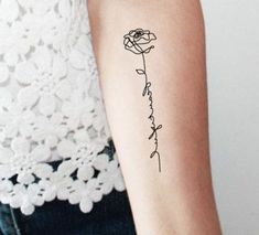 ▷ tattoo ideas - unique body ornament- ▷ Tattoo Ideen – einzigartige Korperverzierung tattoo templates women blouse from lace rose flower by letters paint drawing on body - Diskrete Tattoos, Grace Tattoos, 1 Tattoo, Tattoo Script, Word Tattoos, Mini Tattoos, Trendy Tattoos, Forearm Tattoos, Unique Tattoos
