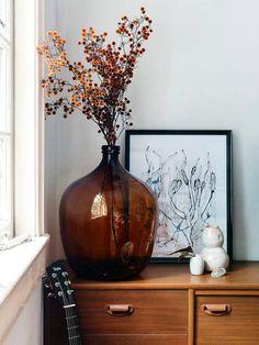 Un vase Dame-Jeanne pour une décoration bohème.