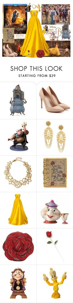 """""""Beauty and the beast"""" by aniri310 ❤ liked on Polyvore featuring Disney, Alexander McQueen, Dolce&Gabbana, Oscar de la Renta, Judith Leiber, Alex Perry, BeautyandtheBeast and contestentry"""