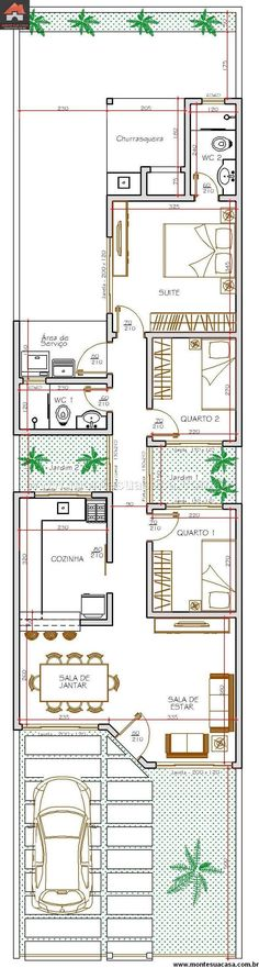 Casa 2 Quartos - 81.12m²