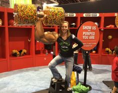 Look at the arm and Skittles dumbbell we created for the Skittles fan zone at the 2015 Super Bowl!