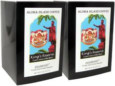 Aloha Island, Kona Smooth Diamond Kings Reserve Hawaiian Blend Coffee Pods, 2 Boxes of 18 Pods Each - http://thecoffeepod.biz/aloha-island-kona-smooth-diamond-kings-reserve-hawaiian-blend-coffee-pods-2-boxes-of-18-pods-each/
