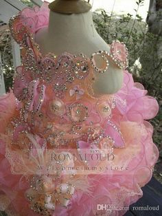 2016 Cupcake Off Shoulder Sequins Crystal Mini Rose Red Glitz Flower Girl Pageant Girls Dresses Formal Little Kids Birthday Party Gowns Birthday Dresses For Toddlers Easter Dresses For Infants From Romaloud, $79.59| Dhgate.Com