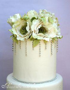 Her cakes are gorgeous--Wedding  cake by Alessandra Cake Designer, via Flickr