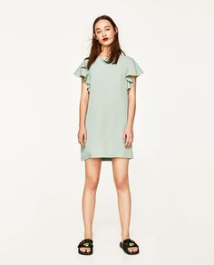 Image 1 of DRESS WITH FRILL AT THE BACK from Zara