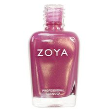 Zoya Nail Polish in Joy - Muted medium rose-pink with mauve tones and gold/copper duochrome shimmer