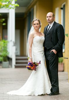Beautiful wedding shot at Hotel Mazarin, one of our French Quarter hotels.  Upbeat Southern Garden Fête   New Orleans, LA