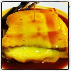 Francesinha (a portuguese dish, typical from Porto) @ Capa Negra Restaurant  Photo by ritzdesousa • Instagram