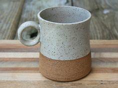 rustic handmade mug tea mug stoneware coffee by earthformsbymarie