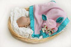 Pink Pink Security Blanket pig baby blanket Lovey by BBsForBabies