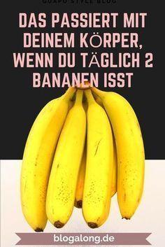 Das passiert mit deinem Körper, wenn du täglich 2 Bananen isst #abnehmen #gesund #obst #bananen #diät #gewicht