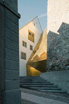 gold + stone--The Rapperswil-Jona Municipal Museum, by Swiss architects mlzd.