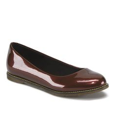 This Cherry Red Marie Patent Leather Flat by Dr. Martens is perfect! #zulilyfinds