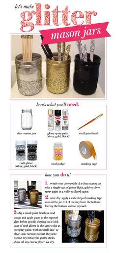 223_Glitter Mason Jars @Jennifer Pulley  @Dani Pulley  any of yall have extra quart jars laying around