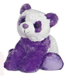 cute purple panda stuffie