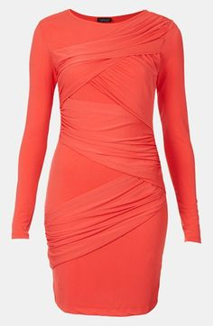 Topshop Wrap Panel Body-Con Dress available at #Nordstrom