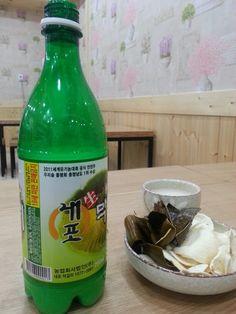 홍성에서 왔다는 막걸리 거창에서 온 부각^^