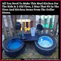 Dollar Store Crafter: DIY Mud Kitchen ~ Backyard Fun