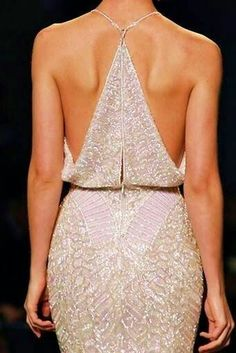 Sexy back dress elegant