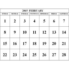 2015 February Calendar ❤ liked on Polyvore featuring home, home decor and stationery