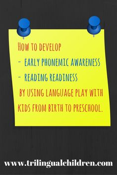Before child learns to read he needs to learn how to separate phonemes (speech sounds). It is better for parents and kids to start working on it as early as possible, since in reality it does not require anything special. #earlyed #reading #language