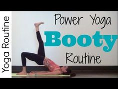 Power Yoga Workout | Booty Routine - YouTube