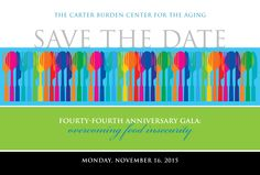 Invitation design for The Carter Burden Center's Gala
