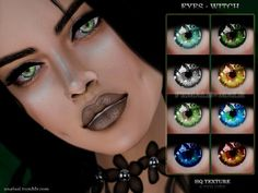 The Sims Resource: Witch eyes by ANGISSI • Sims 4 Downloads