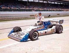 1977 Indianapolis 500 Gary Bettenhausen 8x10 Photo Evel Knievel Kingfish Indy