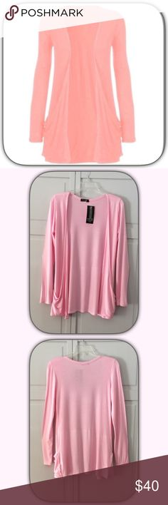 NWT Pretty Pink Boyfriend Draped Cardigan Sweater This is so pretty and light for a perfect spring day! Add a white tee and skinny jeans for a super cute look! Boutique Sweaters Cardigans