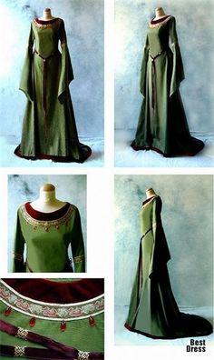 Celtic medieval dress