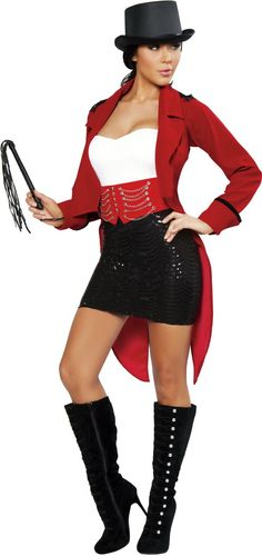 Sexy Halloween Circus Ringmaster Costume Seductive Ring Leader Costume Sexy Ring Leader Halloween Costume | Spooky | Pinterest | Ring leader costume ...  sc 1 st  Pinterest & Sexy Halloween Circus Ringmaster Costume Seductive Ring Leader ...
