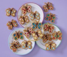 Butterfly Pretzels-awesome idea for a kid party