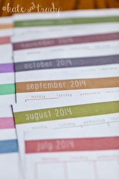 2014 Monthly Calendar Printable | www.kateandtrudy.com