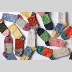 Blue Button Shop — New Socks from now available in smaller. Diy Knitting Socks, Hand Knitting, Knitting Patterns, Knit Socks, Lots Of Socks, Cozy Socks, Knitting Projects, Knit Crochet, Weaving