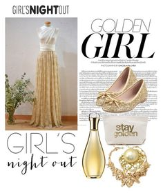"""""""Golden Globe Awards"""" by amilasahbazovic ❤ liked on Polyvore featuring Murphy, Dogeared, Kate Spade, Christian Dior, Oscar de la Renta, women's clothing, women, female, woman and misses"""
